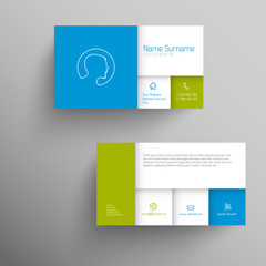 Modern blue green business card template