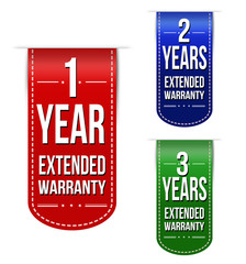 Extended warranty banner design set