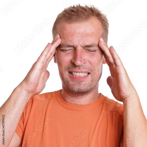 canvas print picture Mann hat Kopfschmerzen