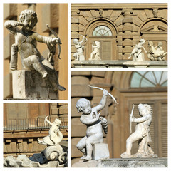 cupids sculptures - details from fountain in Boboli Gardens