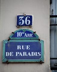 Rue de Paradis, Paris, France