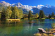 canvas print picture - Lake with cold water