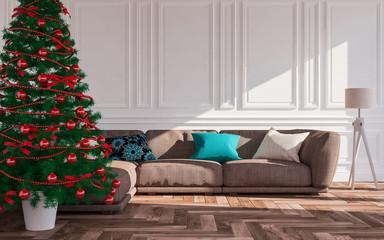 Christmas classic interior