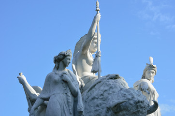 Close up of white statue at Albert Memorial
