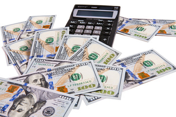 Electronic calculator and money
