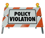 Policy Violation Warning Danger Sign Non Compliance Rules Regula poster