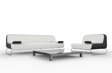 White and black furniture