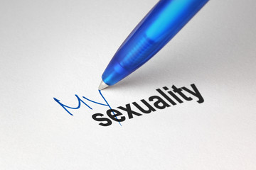 My sexuality, written on white paper