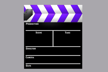 Purple Clapboard