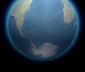 Polo sud Antartide spedizione mappa