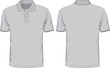 Men's polo-shirts template. Front and back views - 68003287