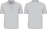 Men's polo-shirts template. Front and back views