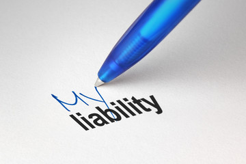 My liability, written on white paper