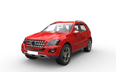 Modern suv on white background