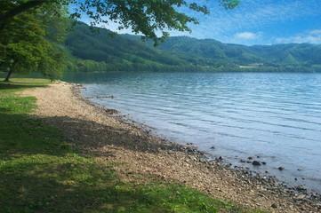 洞爺湖 湖畔のキャンプ場