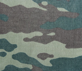 Camouflage background. Texture of a khaki pattern.