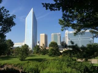 Cityscape skyline of office buildings
