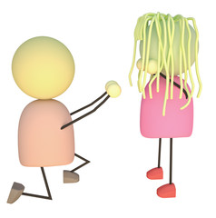 Marriage Proposal 3D Characters