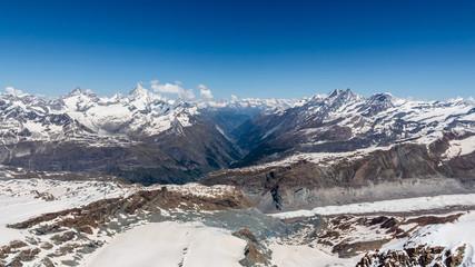 Snow Mountain Range Landscape at Alps Region, Zermatt, Switzerla