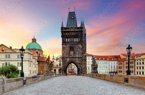 Foto op Canvas Praag Prague - Charles bridge, Czech Republic