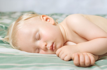 sleeping baby cute funny blond