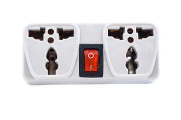 Multiple socket extension cord with switch