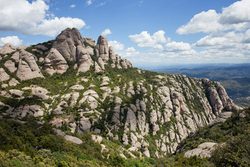 Montserrat Mountain in Spain