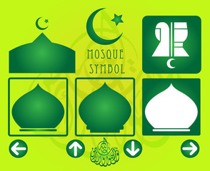 Set of mosque/prayer room symbol
