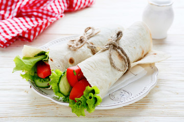 two vegetable rolls