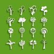 tree paper icon set, vector eps10