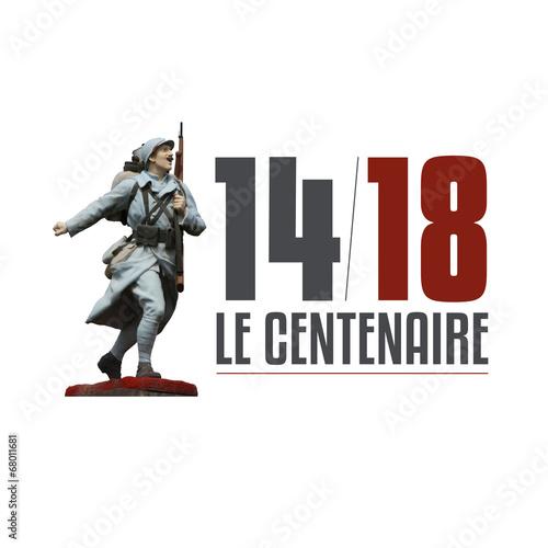 Leinwandbild Motiv 14-18 / Le Centenaire