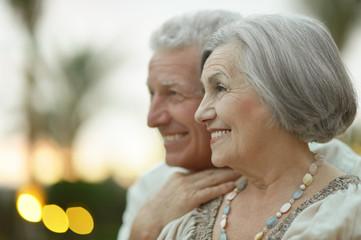 Senior couple resting at the resort