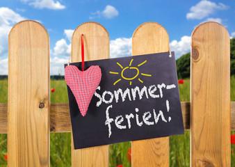 Sommerferien Schild
