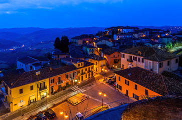 Small italian town in the morning.