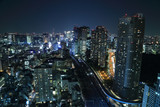 Tokyo cityscape at night - 68012846