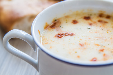 Traditional Turkish Yoghurt Soup