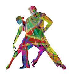 ballerini di tango composti da colori