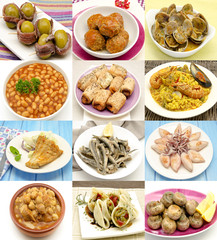 Collage de alimentos
