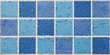 square marble tiles with blue effects