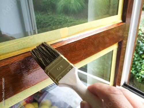 canvas print picture Fensterrahmen streichen