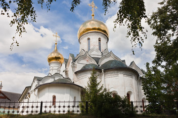 Cathedral in Savvino-Storozhevsky Monastery in Zvenigorod.