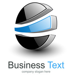 Logo abstract 3D business symbol