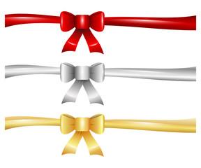 Weihnachten Schleifen Set rot gold silber