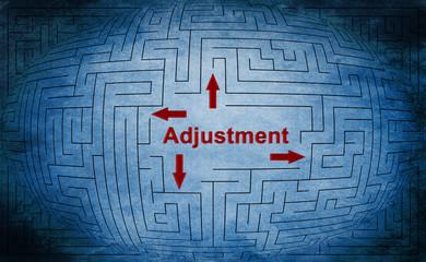 Adjustment maze concept