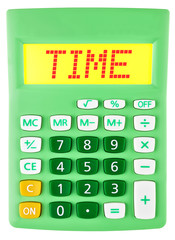 Calculator with TIME on display isolated on white background