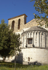San Clemente abbey, Abruzzo region, Italy. Apse exterior