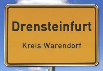 Ortsschild Drensteinfurt Kreis Warendorf