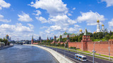Fototapety Moscow, Russia. View of the Kremlin and Kremlevskaya Embankment