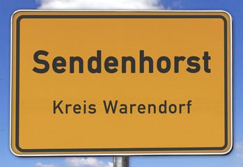 Ortsschild Sendenhorst Kreis Warendorf