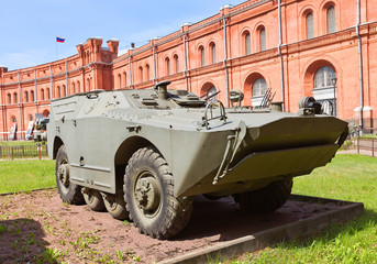 Soviet armored vehicle 9P110 of 9K14 Malyutka missile complex